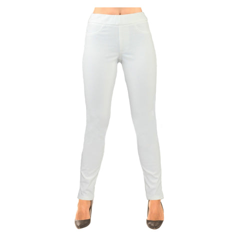 "Lior Paris ""Sage"" Tapered Leg Pant with Back Pockets in White Denim - SAGE-WTD"