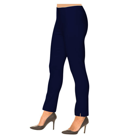 "Lior Paris ""Sasha"" Straight Leg Pull-On Pant in Navy - SASH-NVY"