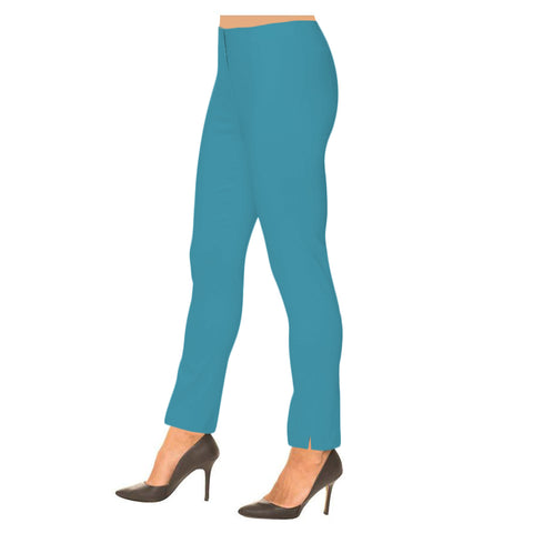 "Lior Paris ""Sasha"" 28""Straight Leg Pant in Aqua"