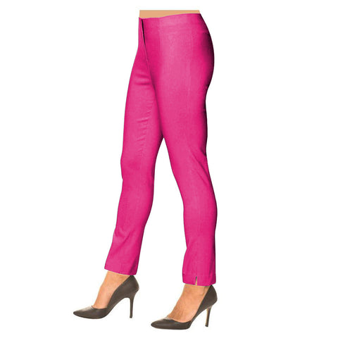 "Lior Paris ""Sasha"" Straight Leg Pull-On Pant in Hot Pink - SASH-HTPNK"