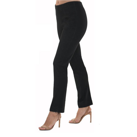 "Lior Paris ""Sasha"" Straight Leg Pant in Black Denim - SASHA-BKD"