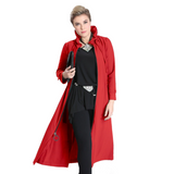 IC Collection Long Zip-Front Parachute Jacket in Red - 1421J-RED