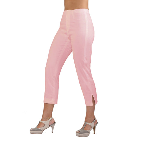 The Sidney Pink Lemonade Denim Capri