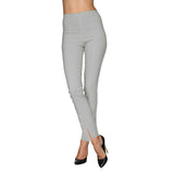 Mesmerize Pants with Front Ankle Slits and Front Zipper in Silver - MA21-SLV