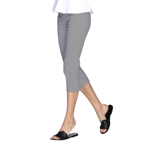 "Mesmerize ""Nova"" Zip Front Capri in Steel Grey - NOVA-STGY - Sizes 4 & 6 Only"