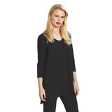 Clara Sunwoo V Neck Tunic in Black - T103-BLK