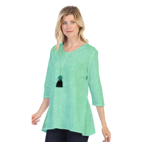 Focus Fashion Lightweight Knit Tunic Top in Mint - SC-115-MNT