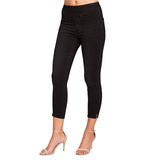 "Lior Paris Power Stretch ""Joy"" Skinny Crop Jean in Black - Joy-BK"