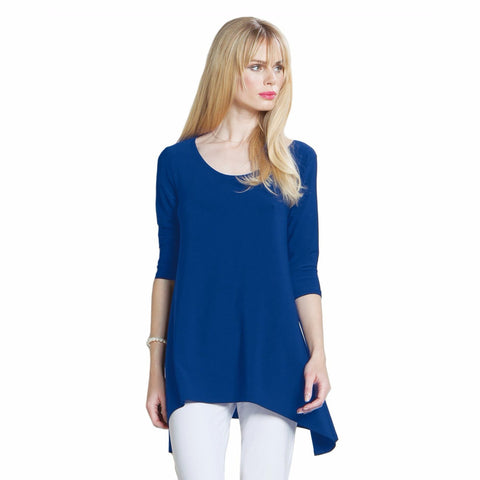 Modern Back Cut-out Tunic in Cobalt - TU404-COB -  Back View