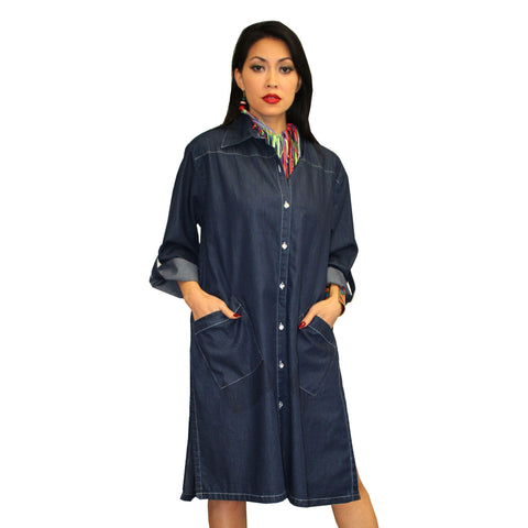 Dilemma Fashions Button Front Denim Dress - PS-1060