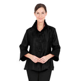 Damee Elegant Bell Sleeve Short Jacket in Black - 4243-BLK