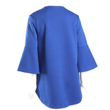 Lior Textured High-Low Swing Jacket in Royal - Vince-116-RYL - Size L Only