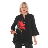 "Lior ""Tropical Love"" Textured High-Low Swing Jacket - Vince-59-BLK"