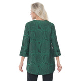 Lior Jacquard Asymmetric Jacket in Green - Vini-63-GRN - Sizes S & XL Only