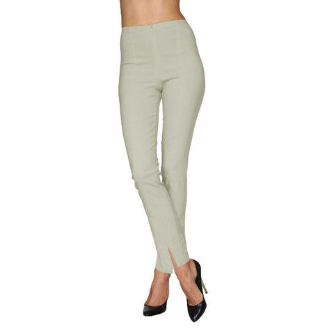 Mesmerize Pants with Front Ankle Slits and Front Zipper in Wheat - MA21-WEA