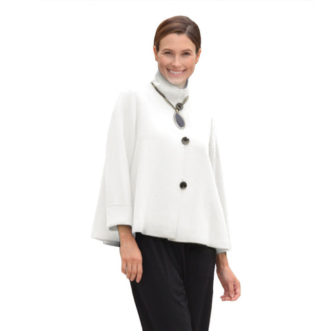IC Collection Short Swing Jacket in Winter White - 5249J-WHT - Sizes S, XXL Available!