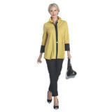 IC Collection Pleat Back Shirt in Mustard - 1268B-MST