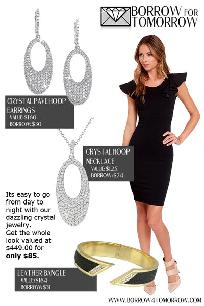 Rent Jewelry for Day to Evening Outfit