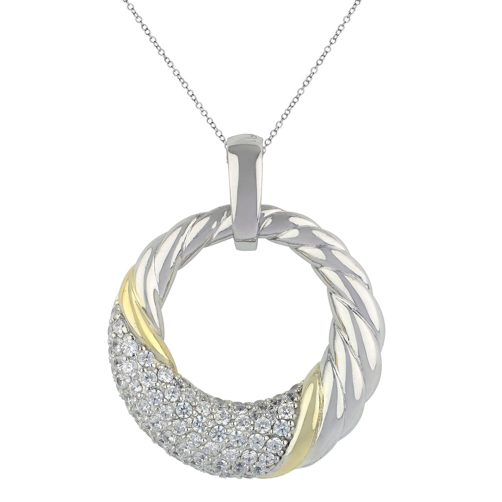 Do the Twist Pavé Necklace