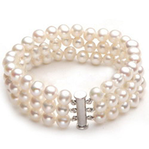 Triple Layered Pearl Bracelet