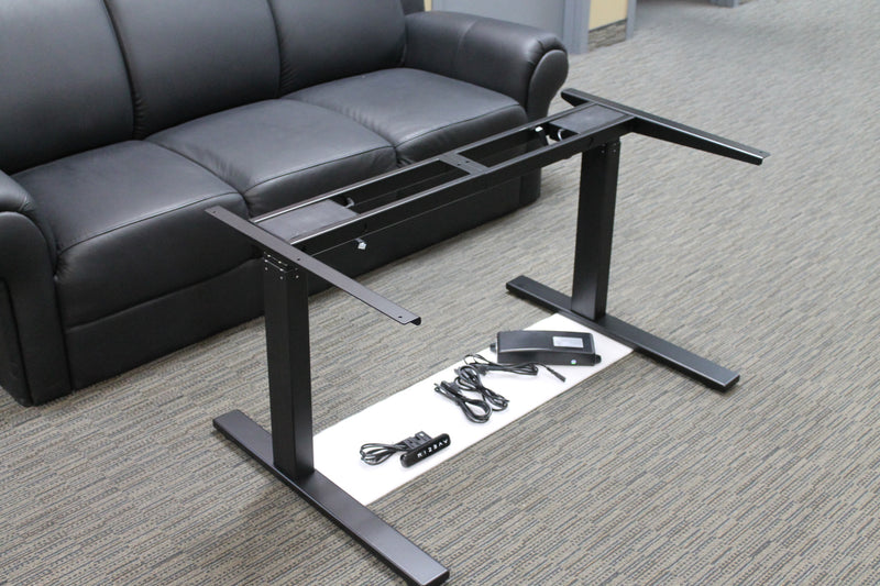 "Sit-Stand Height-Adjustable Desk Electric, 2 Motor, 3-Stage Legs (Premium 23"" to 48"" Height Range)"