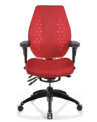 ErgoCentric airCentric2 Knee Tilt Series Ergonomic Chairs - Midnight Black Frame