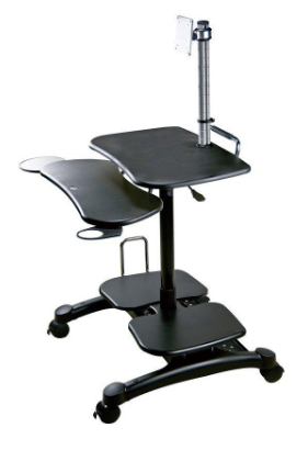 AIDATA PopDesk Mobile Computer Cart with Monitor Mount LDC003P