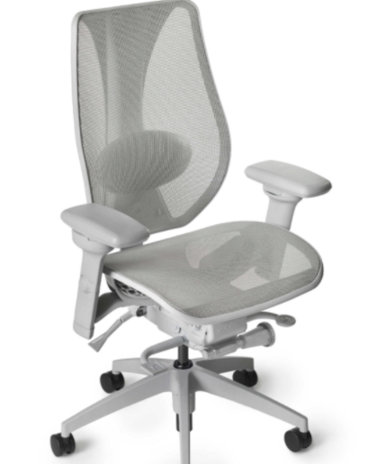 ErgoCentric tCentric Boardroom Series Hybrid All Mesh - Light Grey Frame