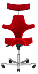 HAG Capisco 8107 - Saddle Seat with Backrest and Headrest (Fully Upholstered)