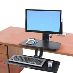 Ergotron Workfit A Suspended Keyboard Single LD Workstation