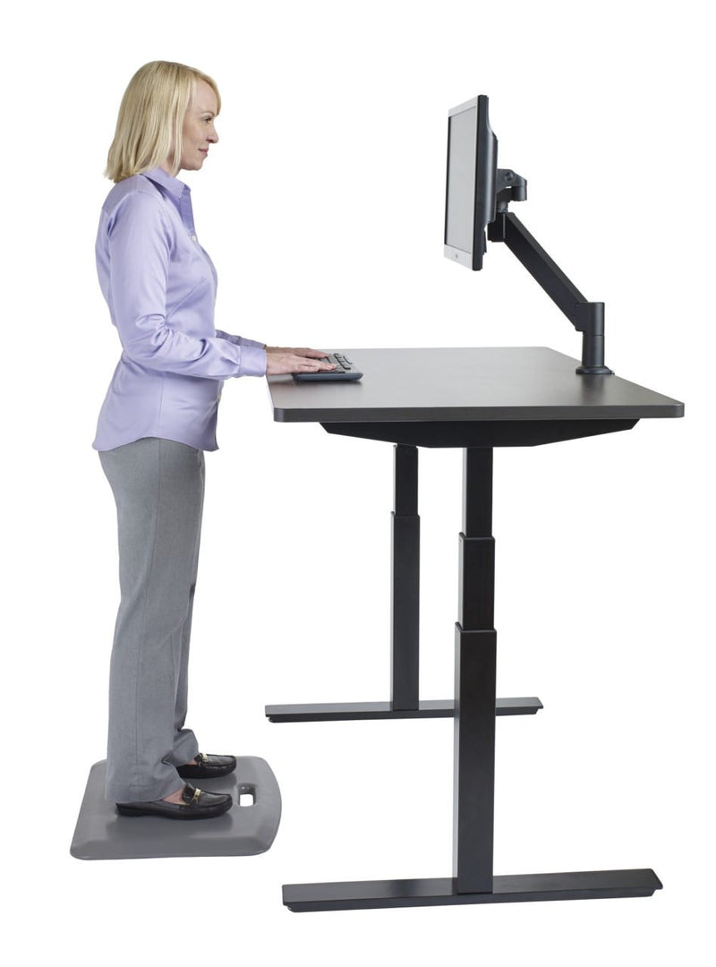 "ErgoCentric UpCentric 2LV 22"" Frame Adjustable Desk - 24"" x 48"" Desktop Home Office Sale- Next Day Shipping"