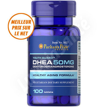 DHEA 50 mg - 100 tablettes des Laboratoires Puritan's Pride