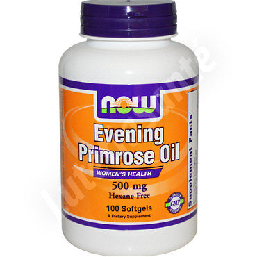 Huile d'onagre 500 mg - Evening Primrose Oil - 100 gélules de Now Nutrition