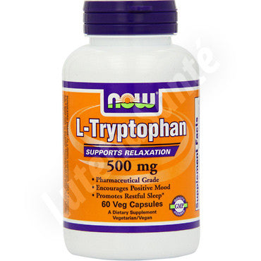 L-Tryptophane 500 mg pour la relaxation - 60 capsules de Now Nutrition
