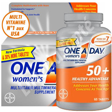 One A Day - Multivitamine pour Femme de plus de 50 ans - 65 Tablettes de Bayer