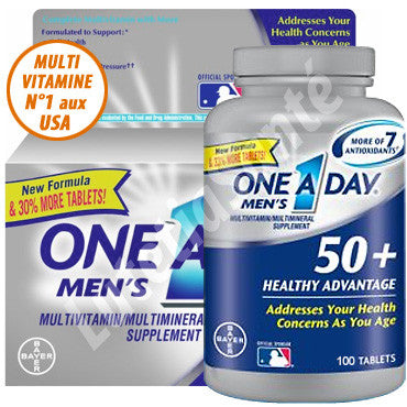 One A Day - Multivitamine pour Homme de plus de 50 ans - 65 Tablettes de Bayer