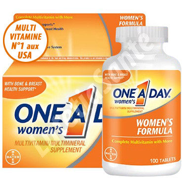 One A Day - Multivitamine pour Femme - 100 Tablettes de Bayer