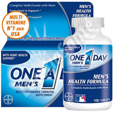 One A Day - Multivitamine pour Homme - 100 Tablettes de Bayer