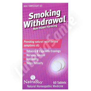 Smoking Withdrawal Sans Accoutumance - 60 Tablettes de NatraBio