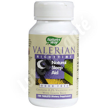 Valerian Nighttime - Valériane pour Dormir Naturellement - 100 Tablettes de Nature's Way
