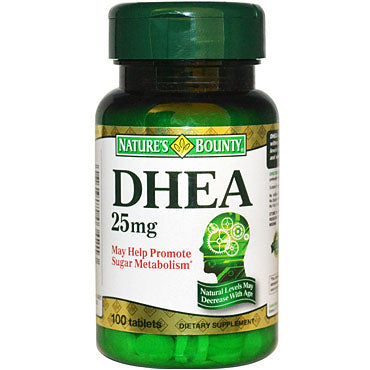 DHEA 25 mg 100 tablettes de Nature's Bounty