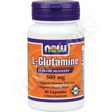 L-Glutamine 500 mg - 60 capsules des Laboratoires Now Nutrition