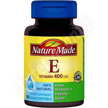 Vitamine E 400 IU - 100 gélules liquides de Nature Made