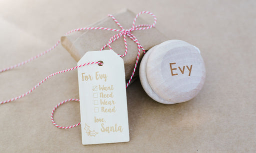 Reusable Want, Need, Wear, Read Christmas Gift Tags