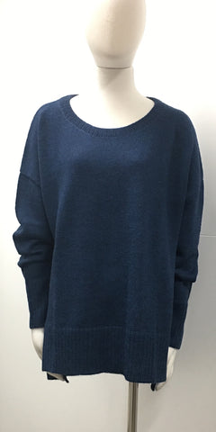 Avila Blue Crew-neck Jumper