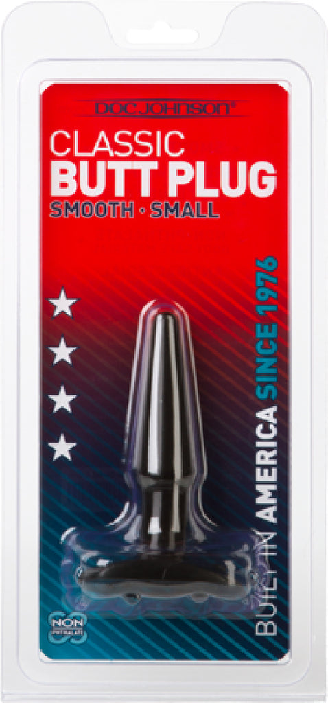 Butt Plug - Smooth - Small (Black)