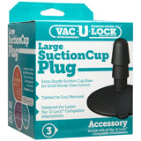 Large Suction Cup Plug (Black)