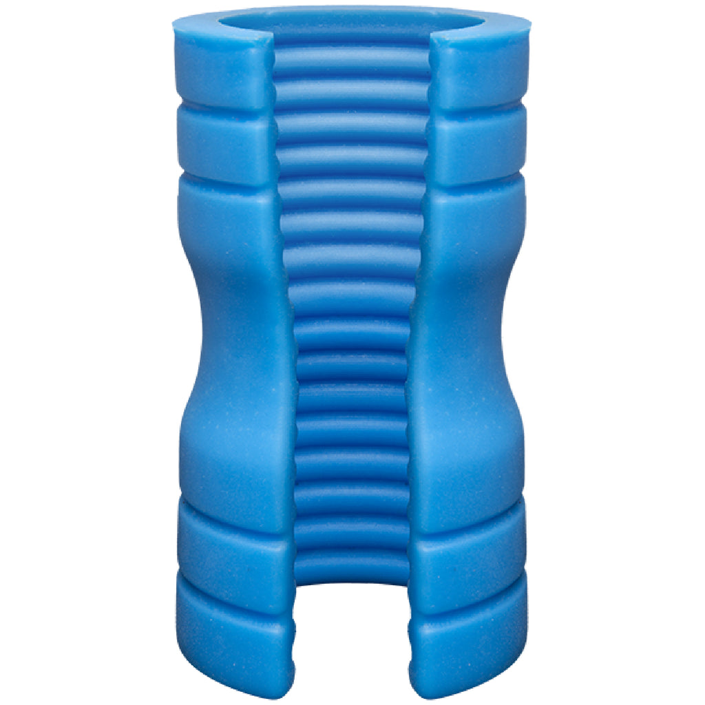 TRUSKYN Silicone Stroker Ribbed (Blue)
