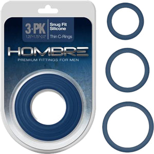 Snug-Fit Silicone Thin C-Rings, 3 Pk