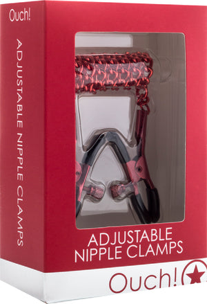 Adjustable Nipple Clamps (Red)